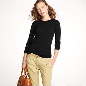 JCREW Tippi Merino Black Wool Sweater Small NWOT